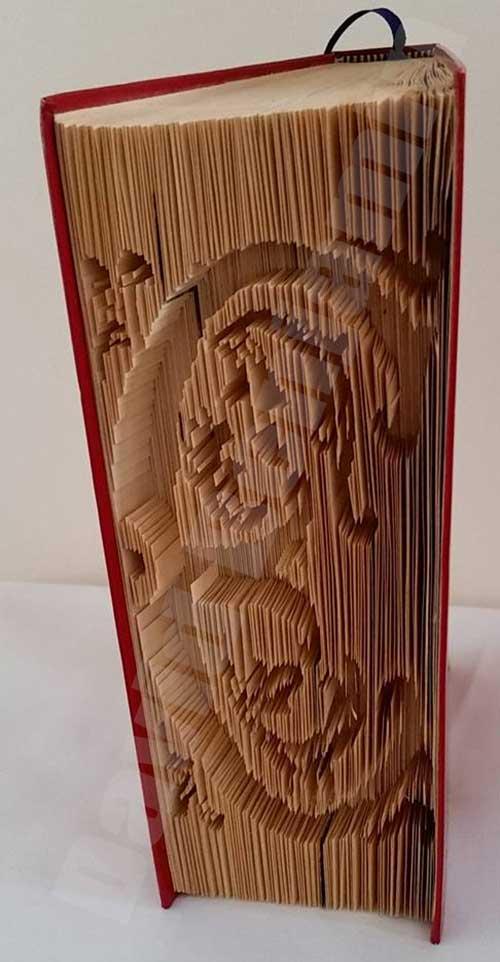 fleur monograms - cut  u0026 fold book folding patterns