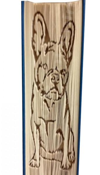 French Bulldog 2 - Cut & Fold Book Folding Pattern
