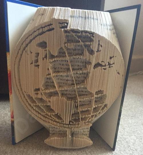 World globe cut fold book folding pattern cut fold book art world globe cut fold book folding pattern gumiabroncs Image collections