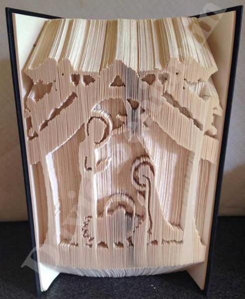 nativity scene combi cut and fold book folding pattern. Black Bedroom Furniture Sets. Home Design Ideas